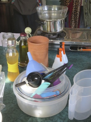 more like a kitchen than a lab: the simple tools needed