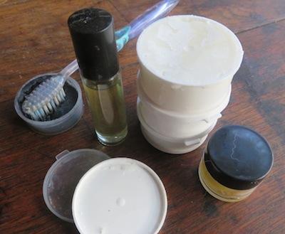 to take home: lip balm, perfume,organic lotion and more