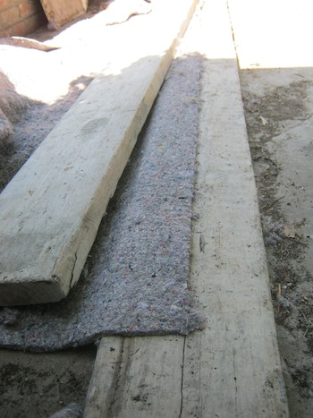 cutting board and ruler