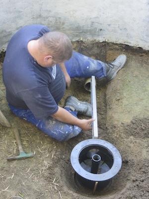 installing bottom drain