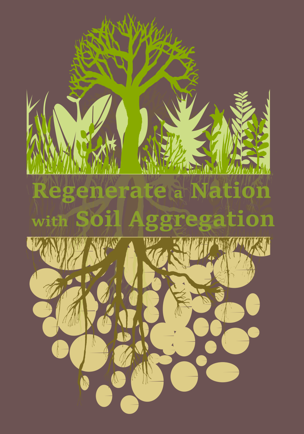 My soil health design printed on clothing, decor items and accessories.