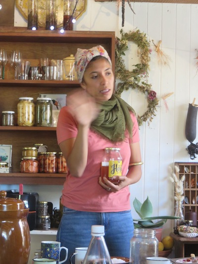 Zayaan explaining some off the digestive benefits of pickling