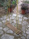 a low cast garden swing can bring so much pleasure to the garden