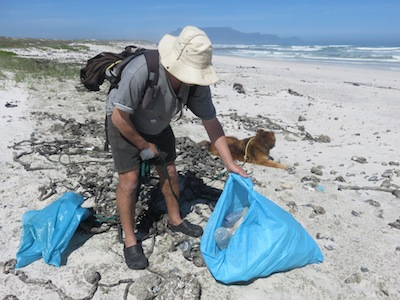 a trip with this beautiful view of Table Mountain becomes a recycling event