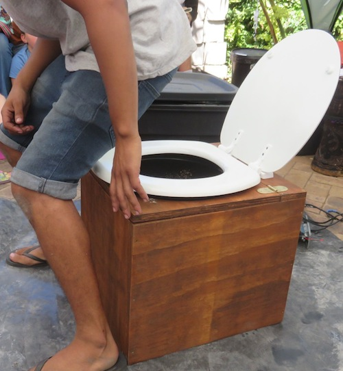 An easy to manage composting toilet design promoted worldwide by Joe Jenkins
