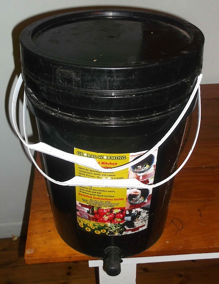 a bokashi bin we make: one of the best known forms of anaerobic composting in the home
