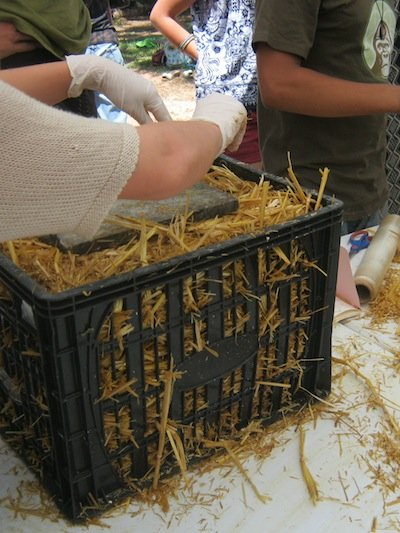 straw crate