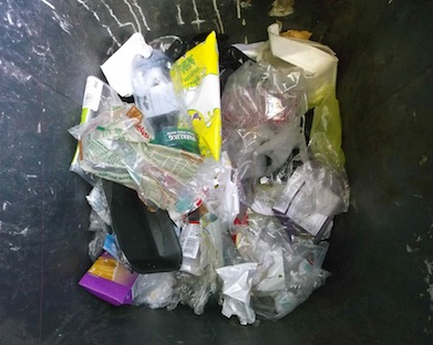 Plastic in the bin is eco sin
