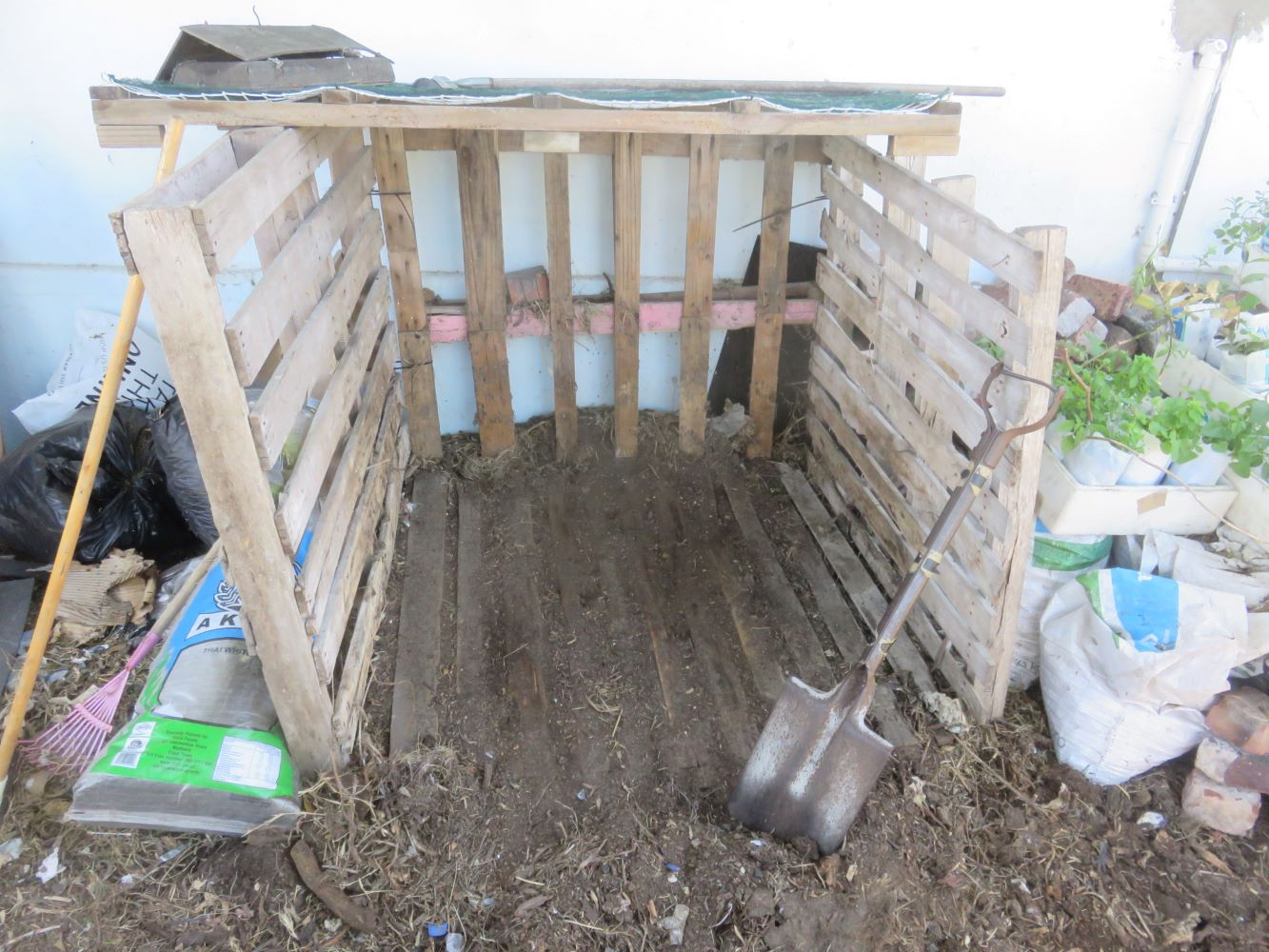 Our old abandoned cubic composter