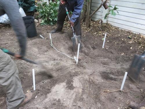 remove all loose, soft soil